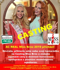 Casting AC REAL Miss Brno 2019 Open